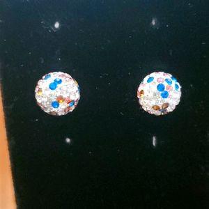 Swarovski crystals sterling silver